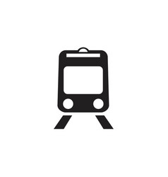Railroad icon isolated on white background vector