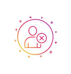 remove user line icon profile avatar sign vector image