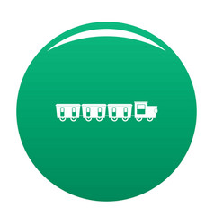 Reserved carriages icon green vector