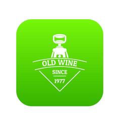 restaurant wine icon green vector image
