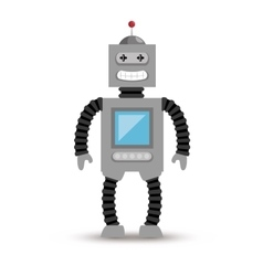 Robot electric isolated icon vector