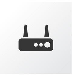 router icon symbol premium quality isolated wifi vector image
