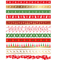 seamless borders for the christmas vector image