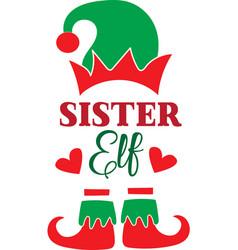 Sister elf christmas elf christmas elf isolated vector
