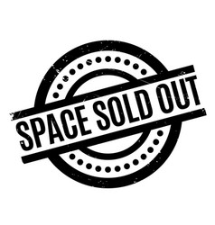 space sold out rubber stamp vector image