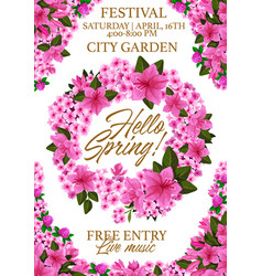 Springtime festival flowers poster vector