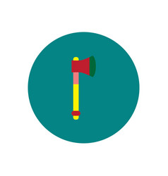 Stylish icon in color circle steel ax vector