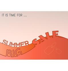 summer big sale vector image