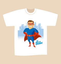 Superhero cartoon character vector