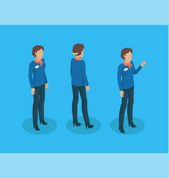 teacher in uniform working concept icons vector image