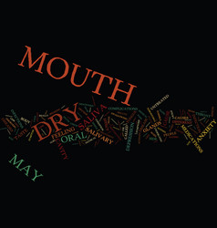 The drought within dry mouth and its effects text vector