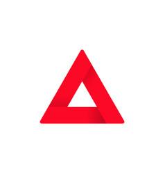 Triangle logo abstract geometric figure on vector