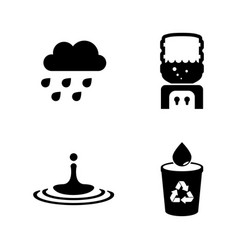 water aqua simple related icons vector image