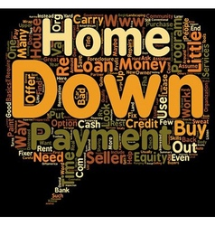 Ways to Buy a Home With Little or No Money Down vector