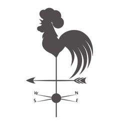 Weather vane Gray rooster on a white background vector image