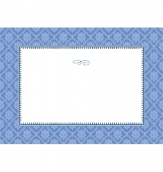 Frame and floral pattern vector