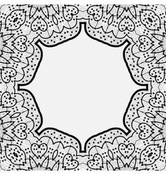 Ornamental frame border in indian mandala style vector image