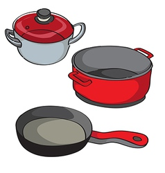 pans isolated vector image vector image