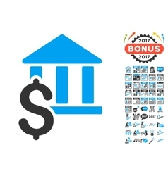 Pay Library Icon With 2017 Year Bonus Pictograms vector image
