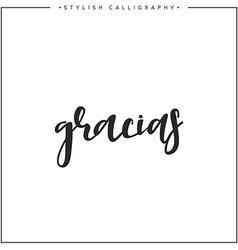 Thank you Phrase in Spanish handmade vector image