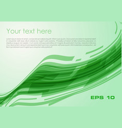 abstract wave rectangle background in green color vector image