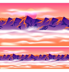mountain peaks in the clouds vector image vector image