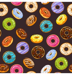 seamless pattern with colorful glaze and sprinkles vector image