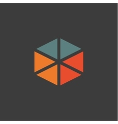 Triangular abstract logos icons in flat design vector image