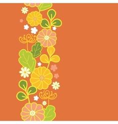 Golden flowers vertical seamless pattern vector image vector image