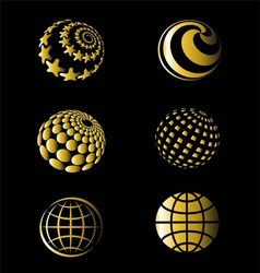 Golden of Earth Set vector image