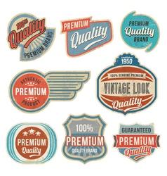 Retro vintage label banner set vector image vector image
