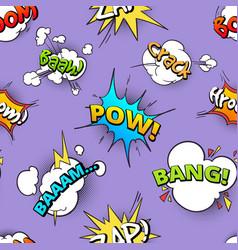 seamless pattern of cartoon comic speech bubbles vector image