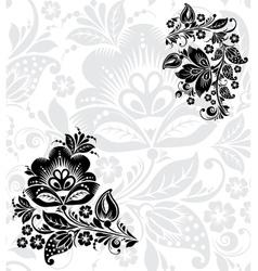 Black silhouette of flower vector image