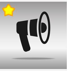 black speaker mouthpiece icon button logo symbol vector image vector image