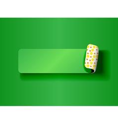Peeling label green on green vector image vector image