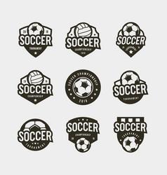 set of football soccer logos sport emblems vector image