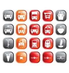 transportation icons set vector image