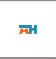 A h letter logo design on black color background vector