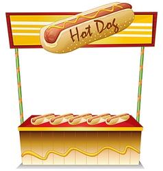 A hotdog stand vector