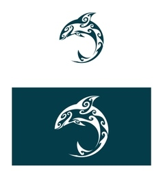 Abstract dolphin vector