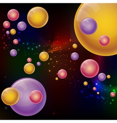Abstract futuristic style background Colorful 3D vector image