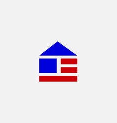 abstract home house building symbol icon logotype vector image