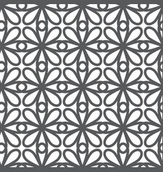 abstract simple geometric line pattern monochrome vector image