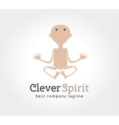 Abstract yoga man logo icon concept Logotype vector image