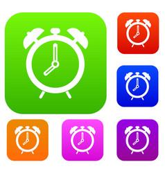 alarm clock set color collection vector image