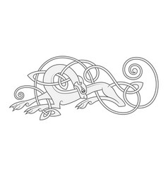 ancient celtic mythological symbol of wolf dog vector image