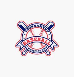 baseball logo badge-1 vector image