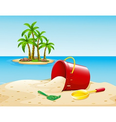 Beach and ocean vector image