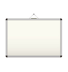 Blank whiteboard vector