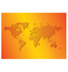 Bright orange background with map of the world vector
